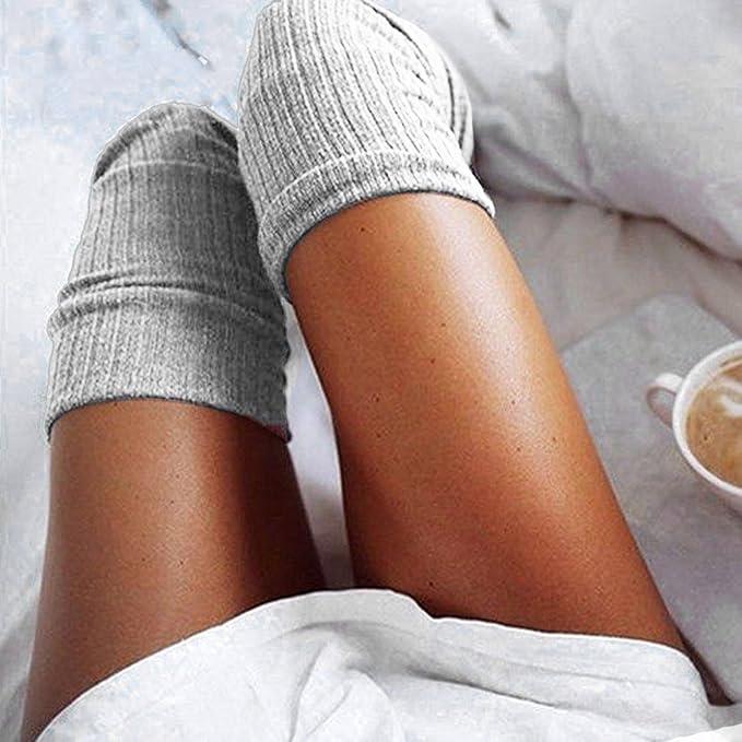 Amazon.com: Sexy Socks, Girls Ladies Women Thigh High Over the Knee Socks Long Cotton Stockings Warm,Womens Activewear,Black: Clothing