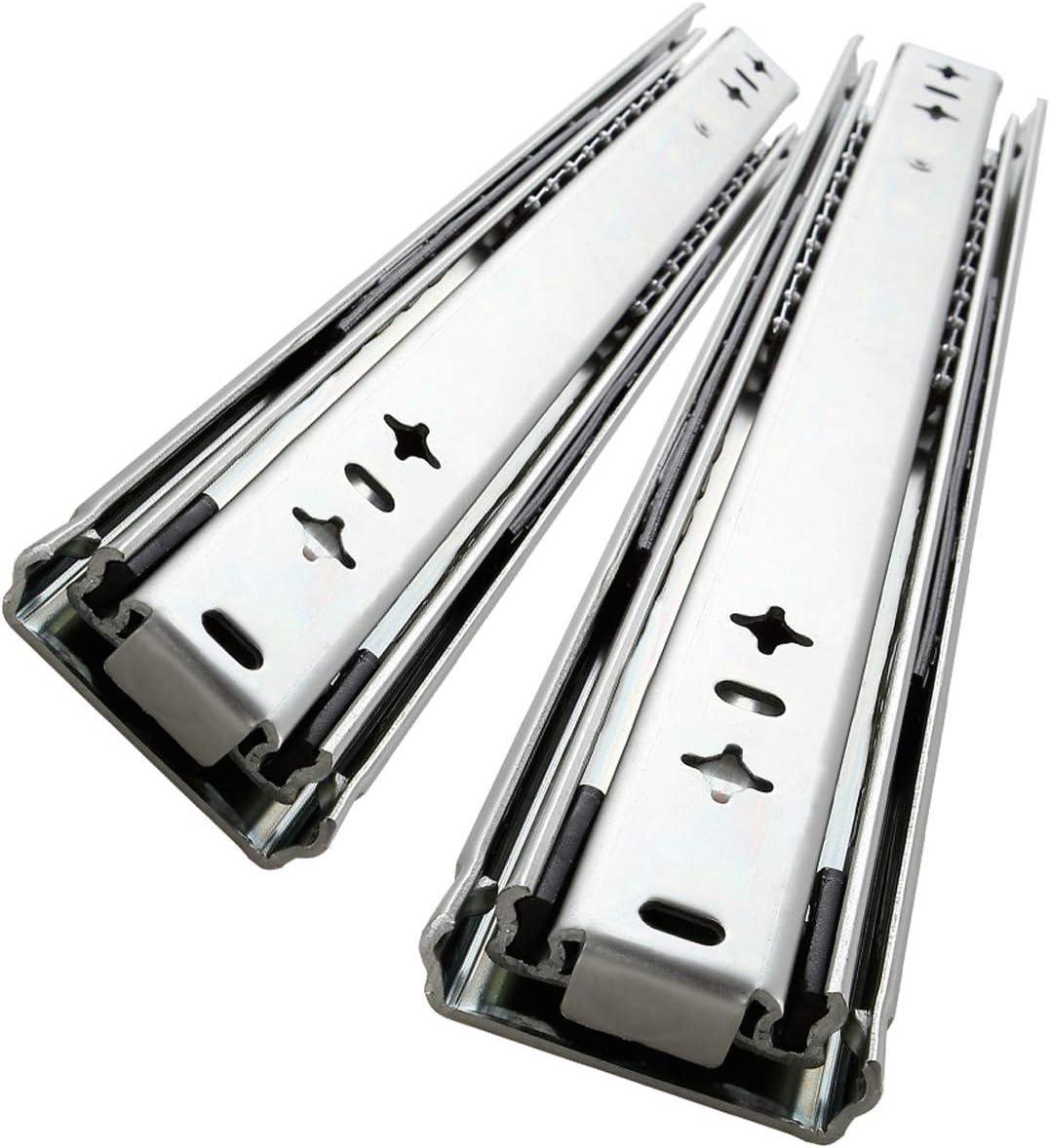 AOLISHENG 1 par (2 piezas) de alta resistencia para cajones de 300 mm y 120 kg de capacidad de rodamiento)