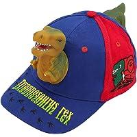 Toddler Crazy Hats for Boys - 3D T-rex Dinosaur Sun Hat Funny Baseball Caps Birthday Gift for Kids Age 3-13