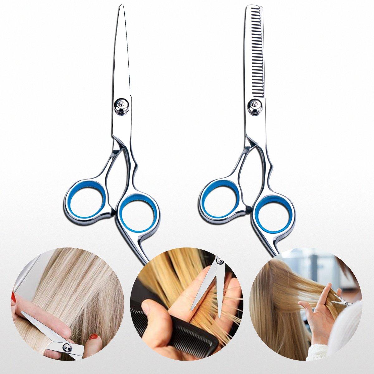 Barber Hair Scissors Set, Hair Cutting Shears Scissors Professional by Petutu (Image #6)