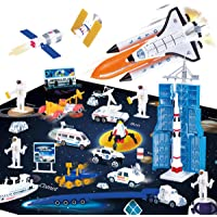 REMOKING Kids Toys Space Adventure Toy with Activity Play Mat,Educational Die-Casting Toys with Space Robot,Space…