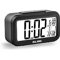 Elbe RD-668-N Reloj despertador con termómetro, adecuado