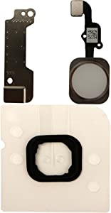 COHK Home Button Key Flex Cable Assembly with Rubber Ring Replacment Part for iPhone 6s and 6s Plus (White)