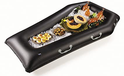 fun express halloween inflatable coffin buffet cooler party accessory