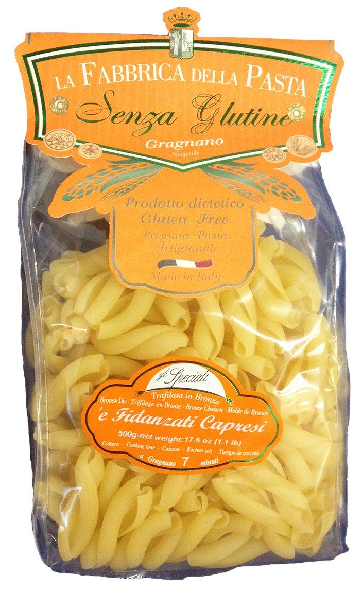 La Fabbrica Della Pasta Gluten Free Fidanzati Capresi 500 Grams (1.1 lb)
