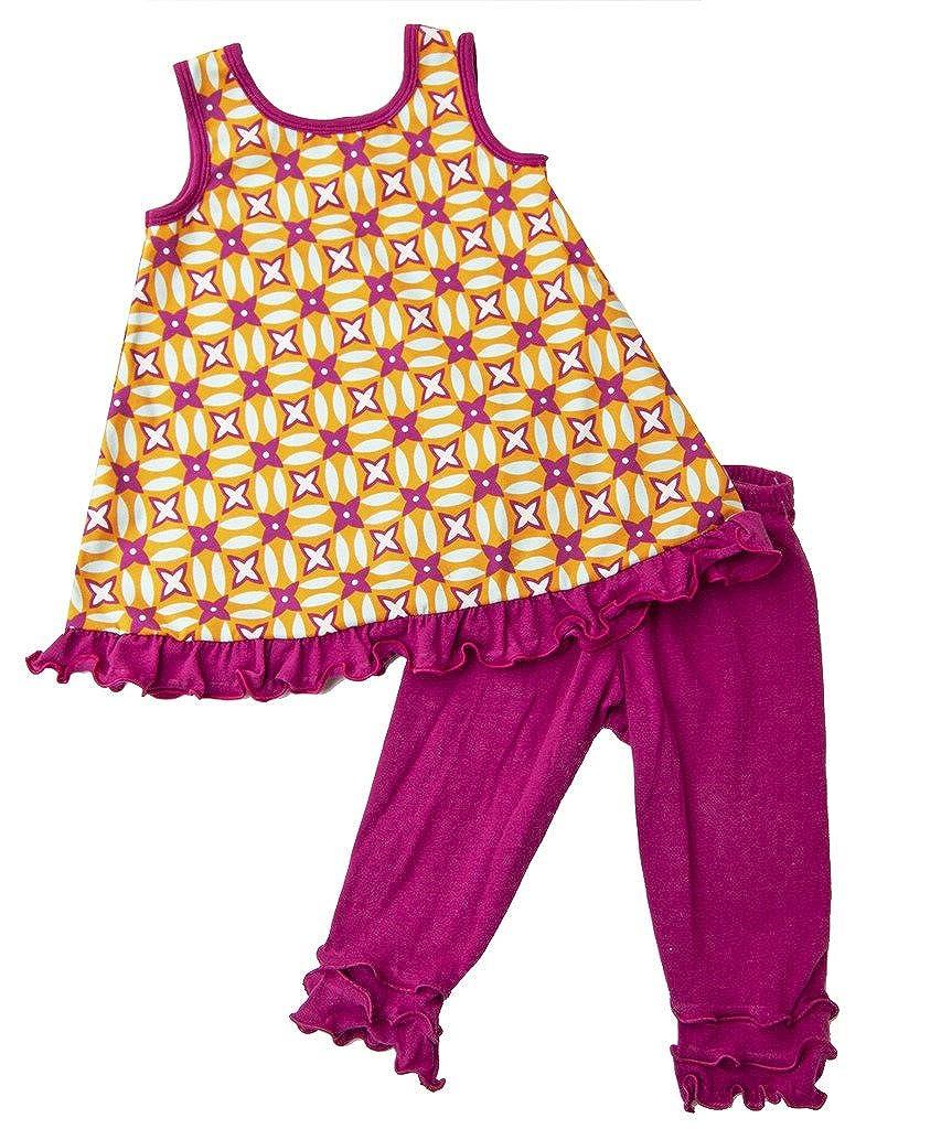 Cheeky Banana Little Girls Geometric Mod swing top /& leggings magenta