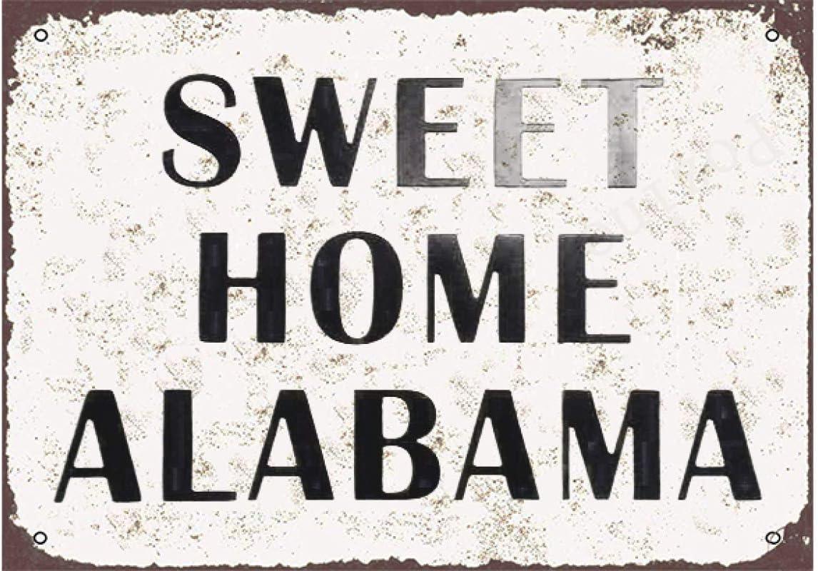 Pozino Sweet Home Alabama Metal Tin Embossed Sign