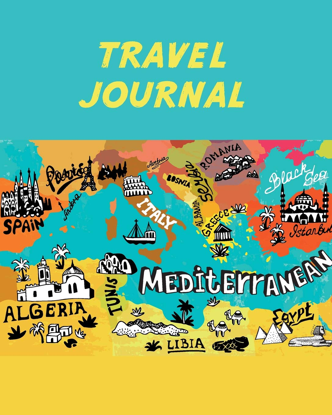 Map Of Spain For Children.Travel Journal Mediterranean Map Kid S Travel Journal Simple Fun