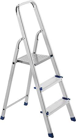 Framar - Escalera de aluminio de 3 peldaños Piuma 3: Amazon.es: Bricolaje y herramientas