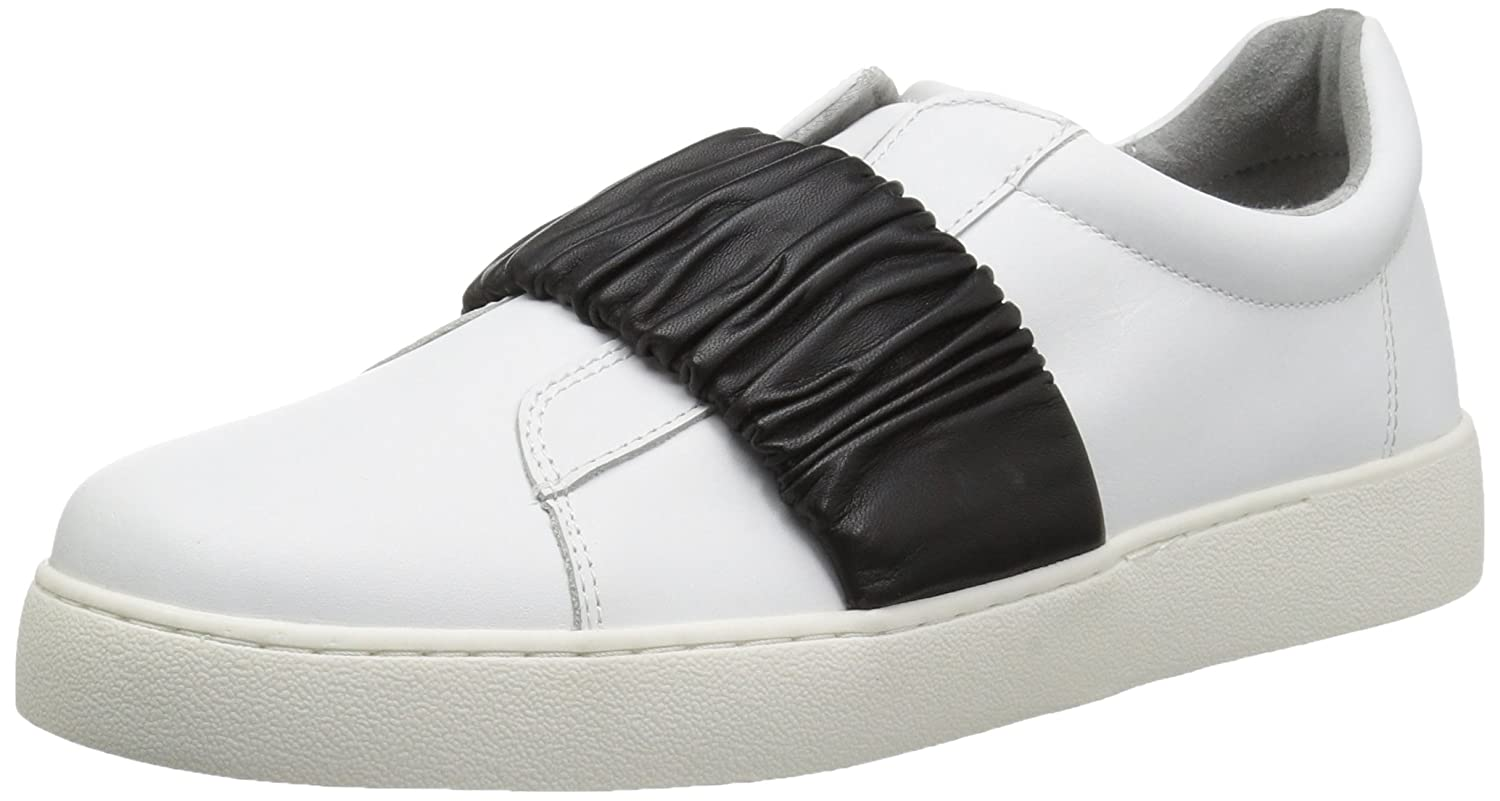 Nine West Women's Pindiviah Leather Sneaker B071ZSP7CW 8 B(M) US|White/Black Leather