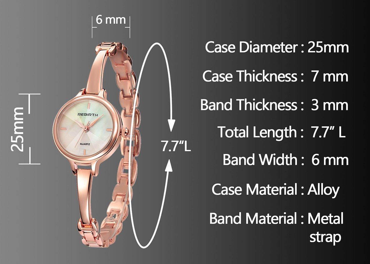 JSDDE Uhren,Elegante Damen Armbanduhr Chic Manschette Damenuhr Rosegold Spangenuhr Armspange Armkette Uhr Analog Quarzuhr,schwarz