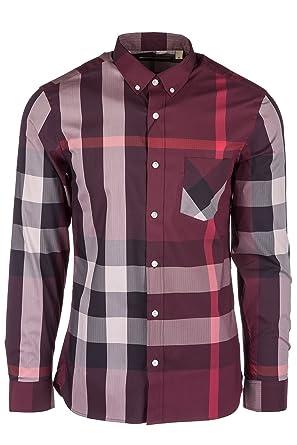 58685cbf78e0 Burberry chemise à manches longues homme thornaby rouge EU L (UK 40) 4056159