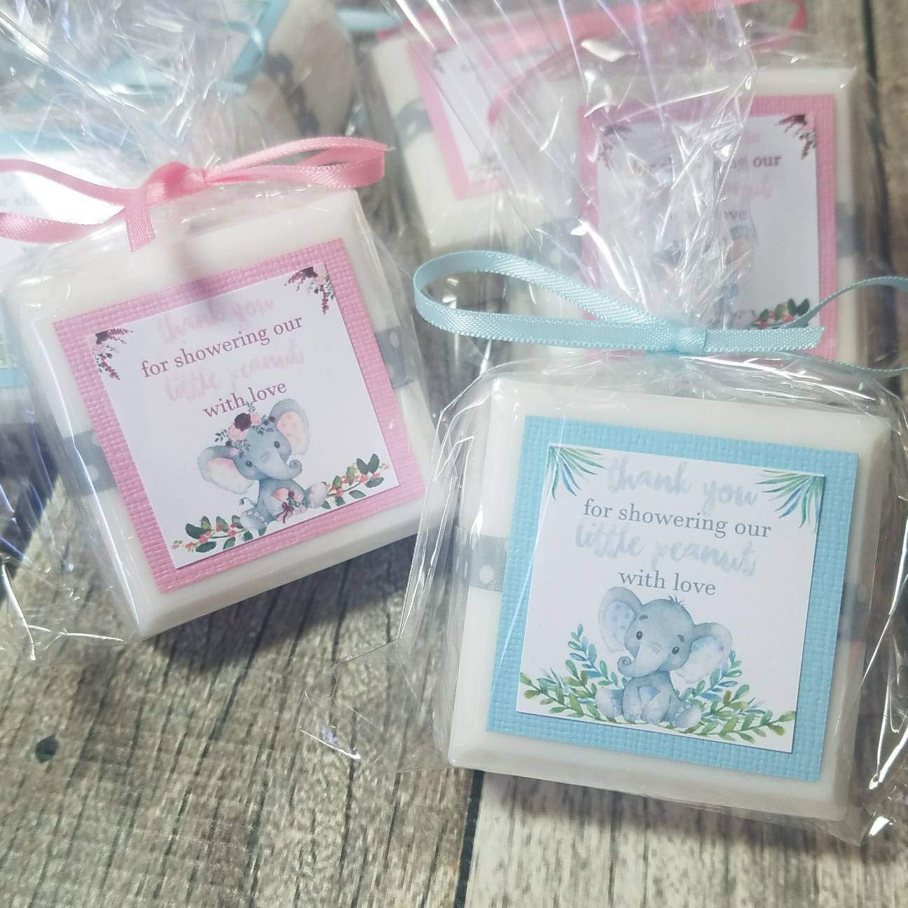 Amazon.com: Elephant Baby Shower favors for girls or boys or gender neutral  choose your own colors: Handmade