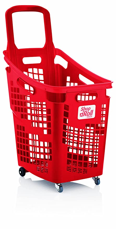Araven tienda N Roll – XL 4 Rueda de plástico carrito de la compra cesta (