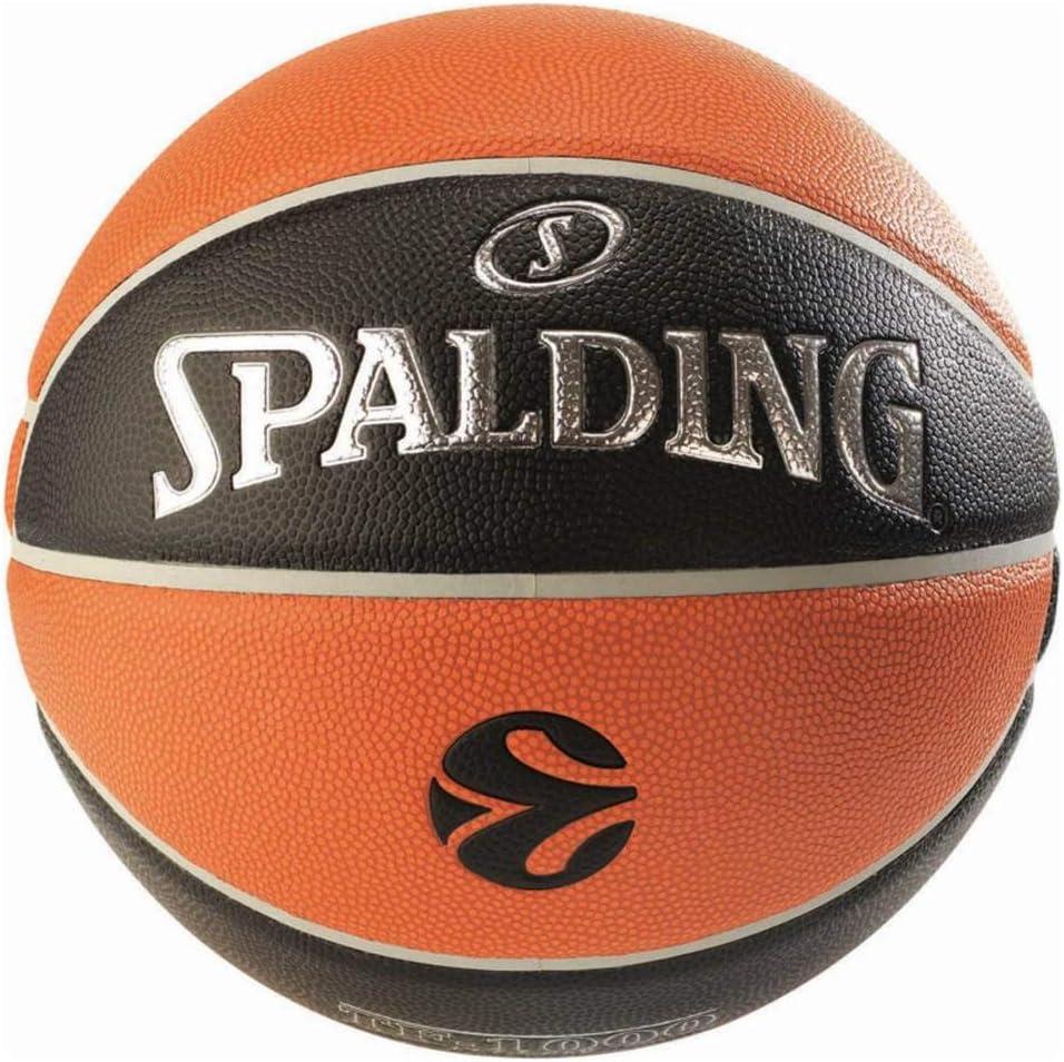 Pallone da basket pallacanestro spalding  euroleague pallacanestro ufficiale da corsa tf500,arancione/nero, 7 3001513000017