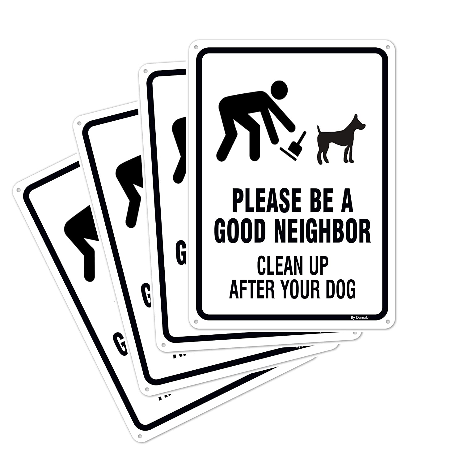 4-Pack Please Be a Good Neighbor - Clean Up After Your Dog Signs 14