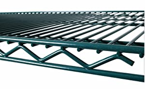 Commercial Green Epoxy Coated Wire Shelving 18 x 72 (2 Shelves) - NSF