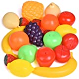 Play Food Set for Kid Kitchen Toys Food and Vegetables Pretend Playset for Children Girls Boys Educational Early Age Basic Skills Development for Kids Gifts for Toddlers 22pcs