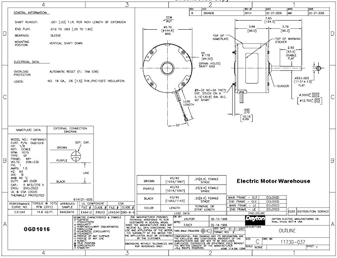 71v9U2OJiIL._SX681_ century dl1076 blower motor wiring diagram fan motor, ao smith century blower motor wiring diagram at love-stories.co
