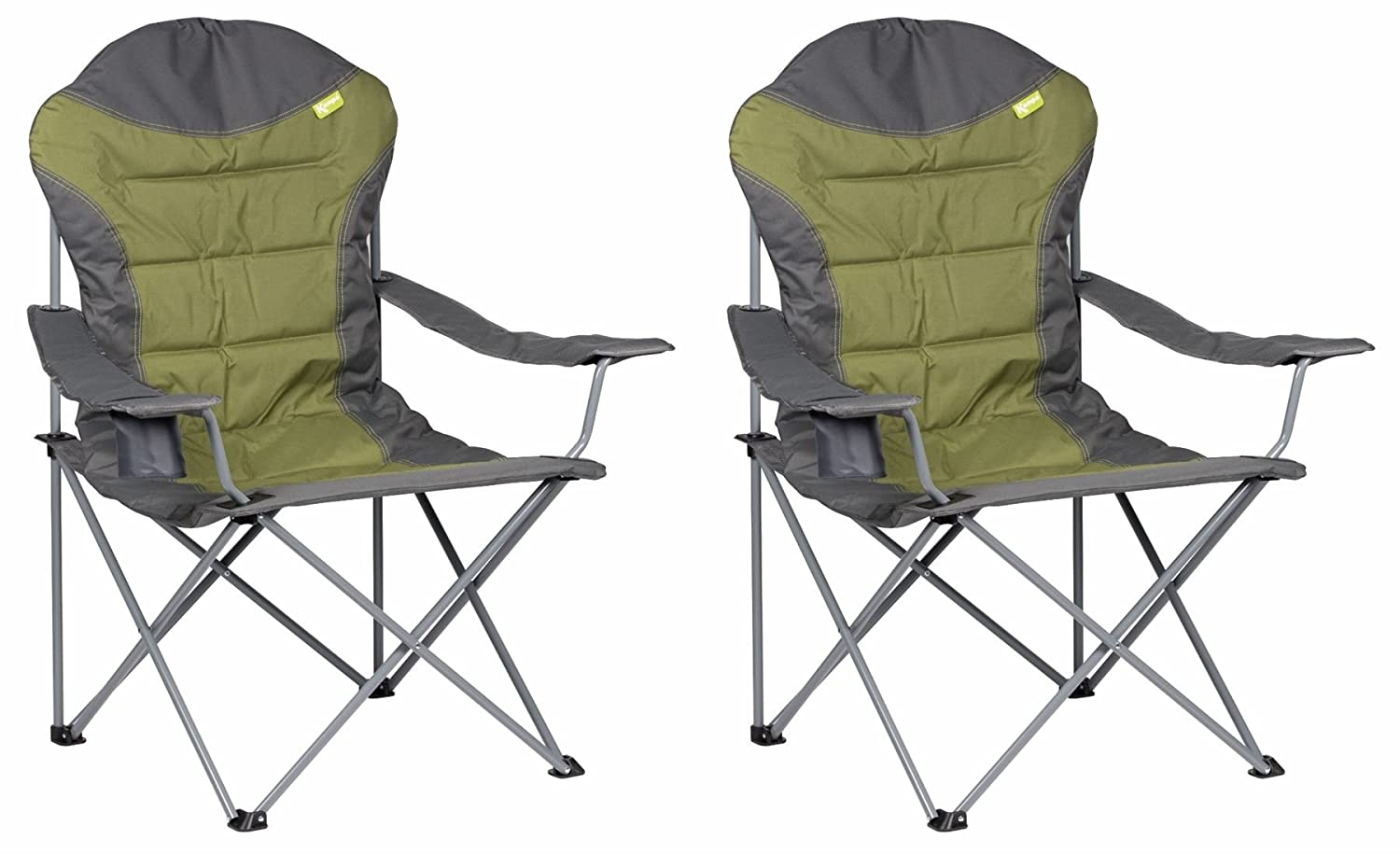 Red Kampa XL High Back Folding Camping Chair
