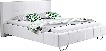 Letto Matrimoniale Di Design In Ecopelle.Muebles Bonitos Letto Matrimoniale Moderno Di Design Sofia Bianco