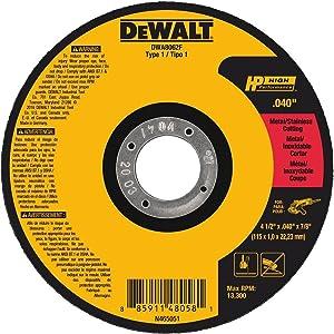 DEWALT DWA8062F T1 HP Fast Cut-Off Wheel, 4-1/2