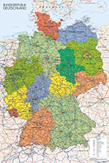 Amazoncom Germany Map Reference Poster X In Office Products - Germany map pictures