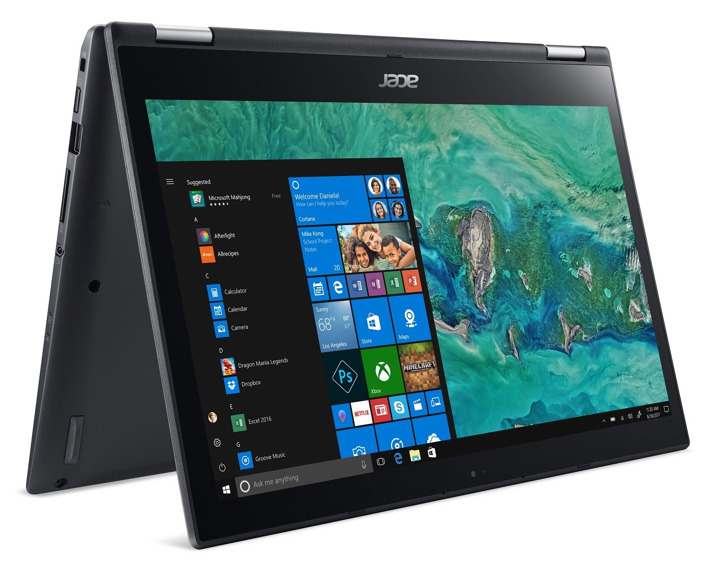 Acer Spin 3 Sp314 51 38xk 14 Full Hd Ips Touch 8th V Gen Ssd Sata 120gb Kalender Intel Core I3 8130u 4gb Ddr4 1tb Hdd Convertible Steel Gray Computers