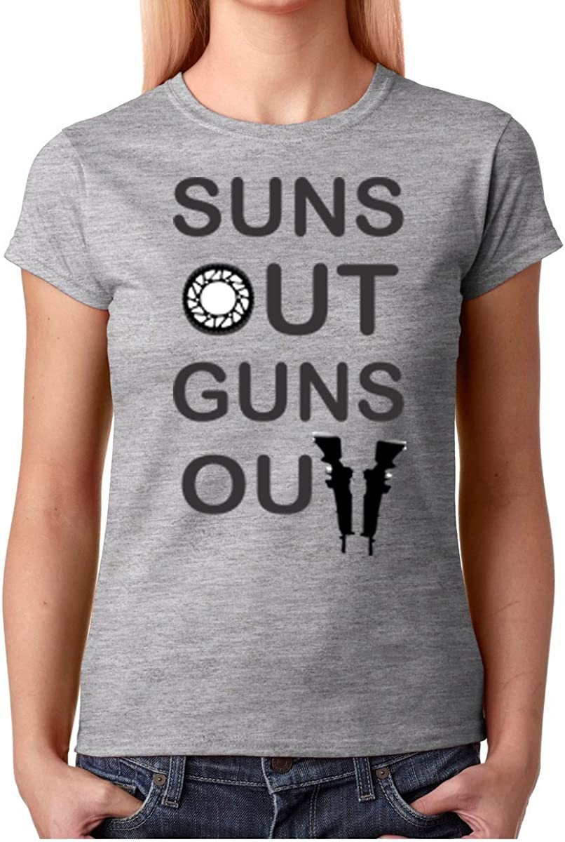 Suns Out Guns Out Mens Casual Graphic Short Sleeve T-Shirt 100/% Cotton Funny Saying Tee Tops