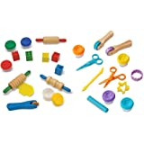 Melissa & Doug Clay Activity Bundle - Shape, Model, Mold and Cut, Sculpt And Stamp