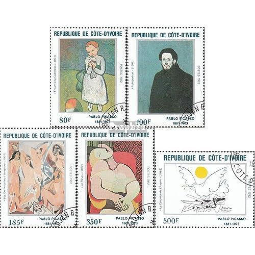 côte d'ivoire 741-745 (complète.Edition.) 1982 pablo picasso (Timbres pour les collectionneurs)