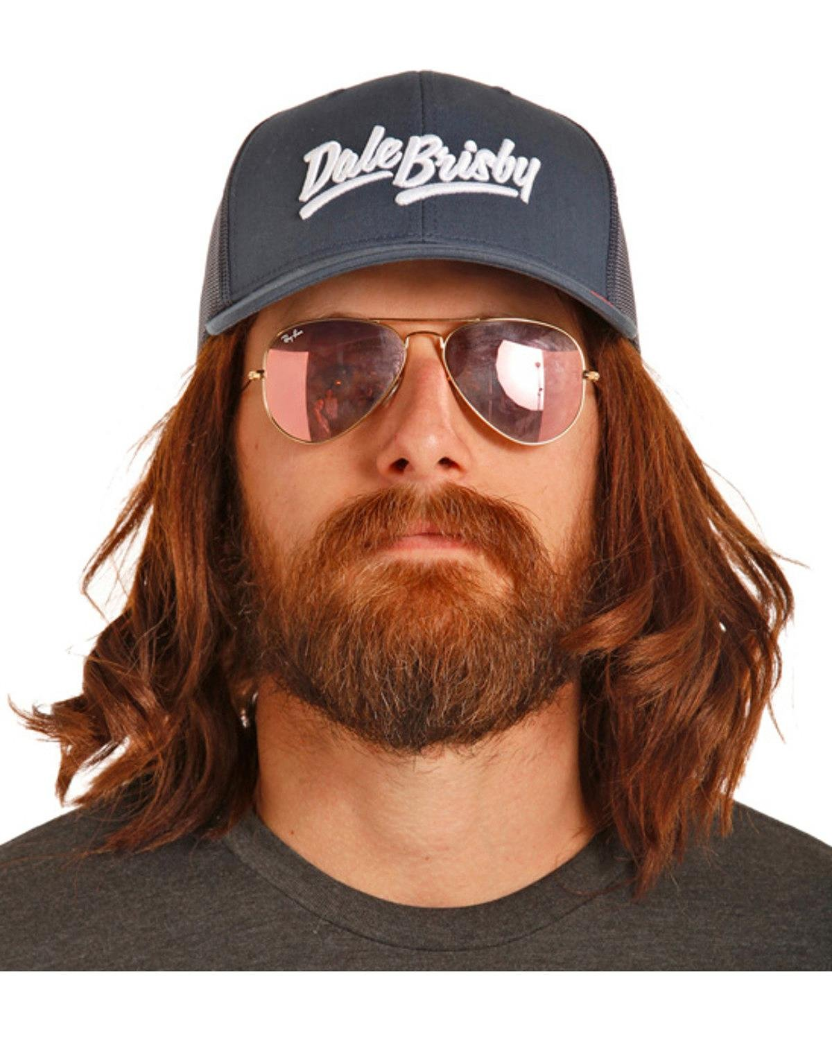 Rock & Roll Cowboy Men's And Dale Brisby Navy Mesh Back Trucker Cap Navy One Size