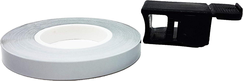5 mm x 6 mt Bandes Wheel Trim Racing pour les Jantes des Voitures Gris Argent/é