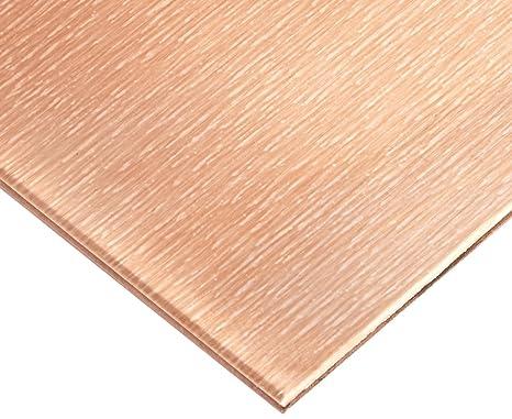 22 Ga Unpolished Mill Finish 20oz Copper Sheet 6x108 0.027