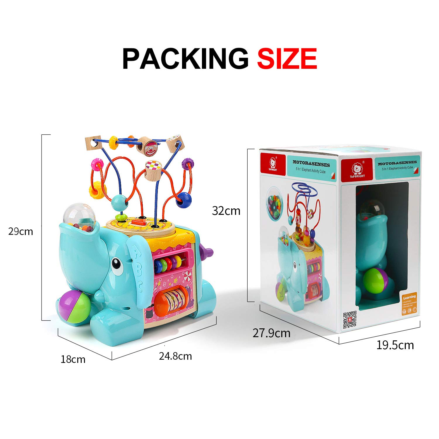 Top Bright Activity Cube Baby Toy for 1 Year Old Boy and Girl Gift Toddler Toys for One Year Old Present
