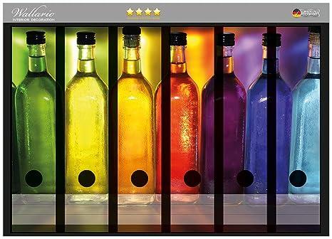 Archivadores pegatinas de colores en alta calidad botellas - tamaño 36 x 30 cm, compatible