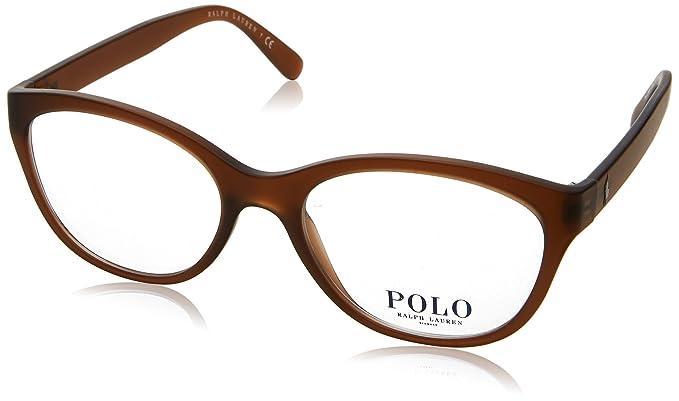 Polo Ralph Lauren 0PH2159, Monturas de Gafas para Mujer, Matte Brown, 52