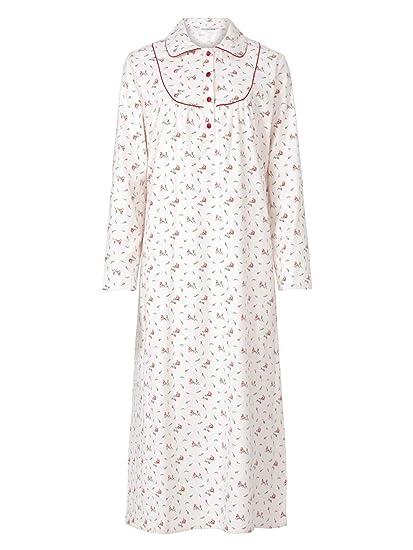 Slenderella Brushed Cotton Long Sleeved Floral Nightdress (10-12 ... c53abefe2