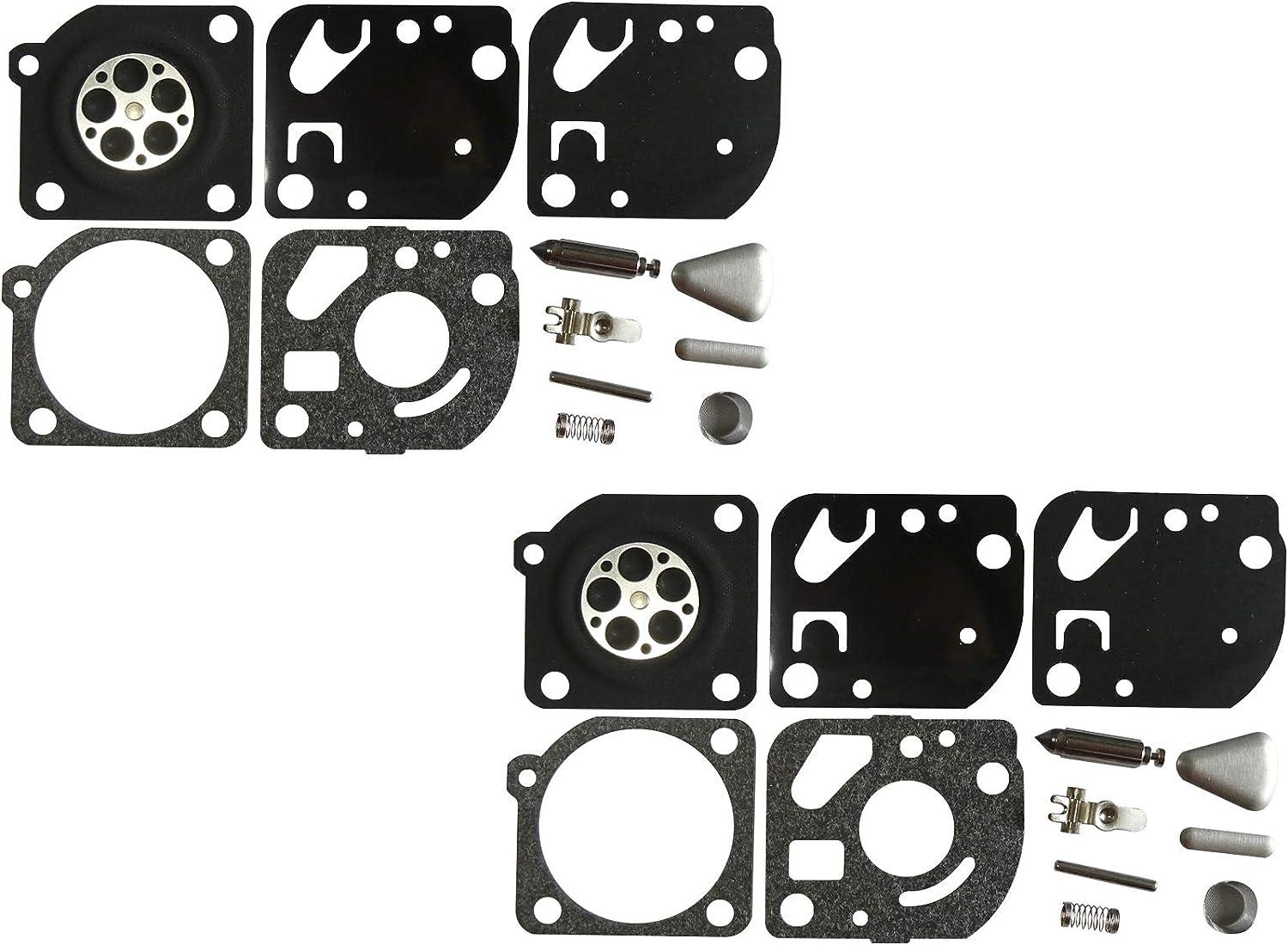 Lot de 2 Kit de r/éparation//Reconstruction de carburateur remplace ZAMA RB-27 pour Echo SRM3550 SRM3800 ZAMA C1U-K10A C1U-K12 C1U-K35 C1U-K45
