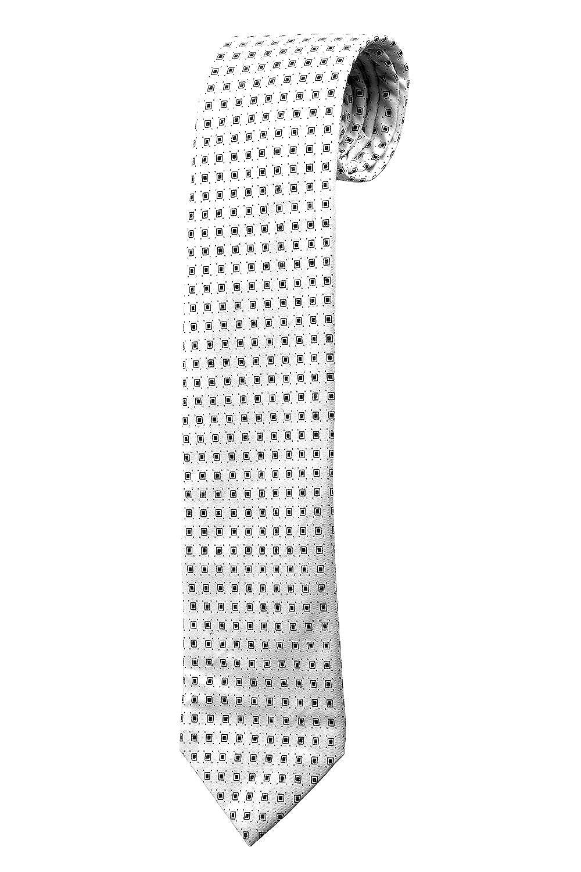 Corbata blanca para, diseño geométrico cuadrados negros Design ...