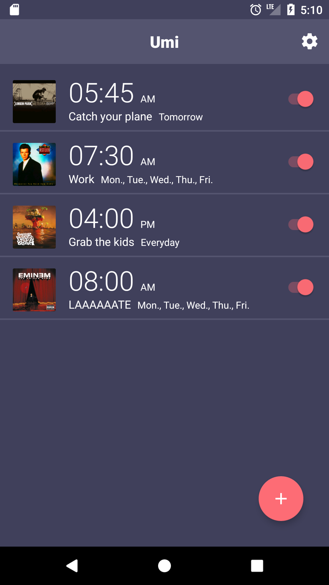 Umi - alarm clock for Spotify