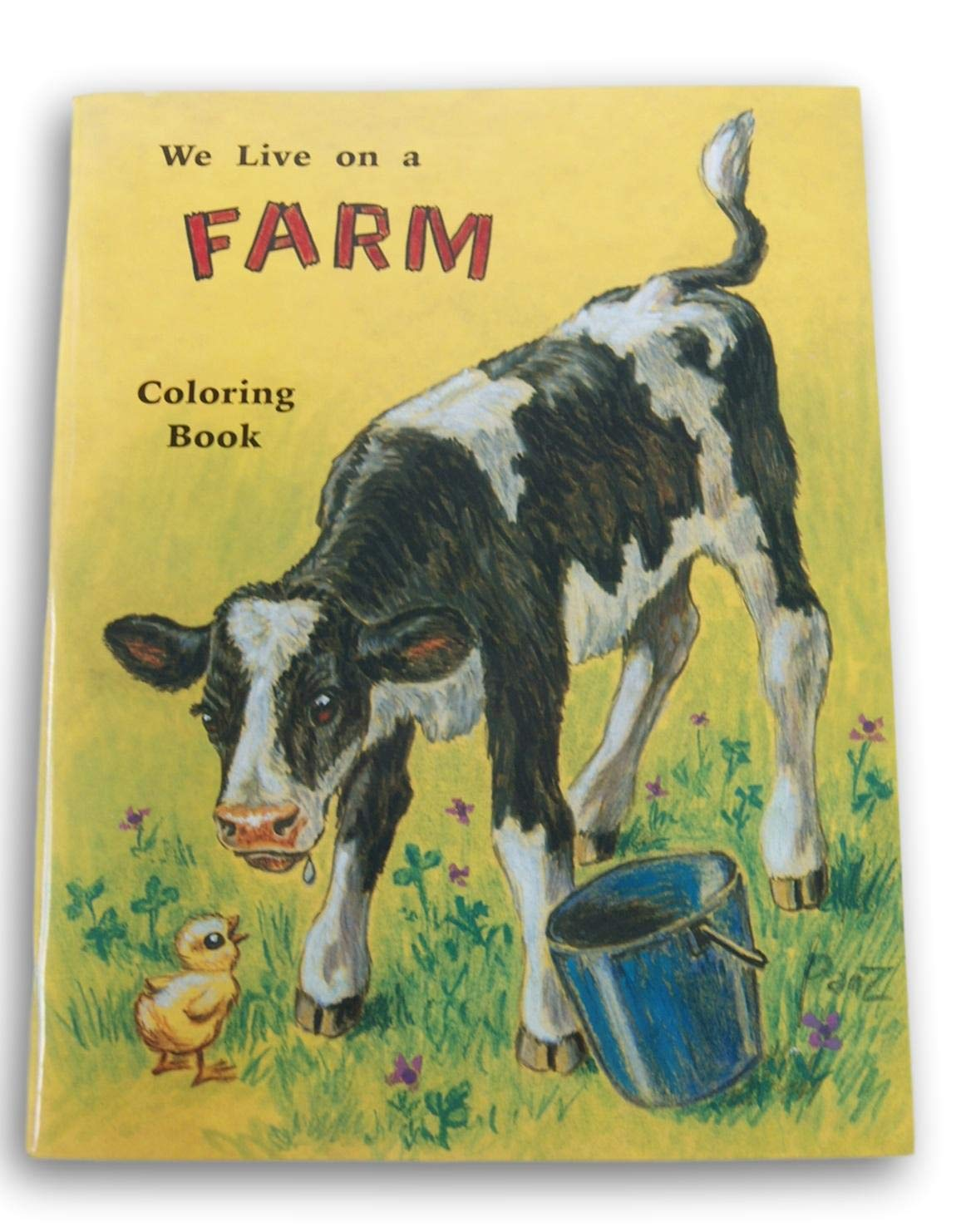 62 Pages Milestone Books Rod and Staff We Live on a Farm Coloring Book