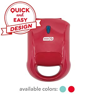 DASH DPM100GBRD06 Pocket Sandwich Maker Sized, Red