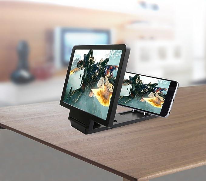 Marco con lupa para agrandar la pantalla del teléfono móvil: Amazon.es: Electrónica