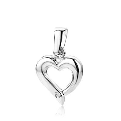 Miore CHNV9W 9 ct White Gold Curb Plain Necklace - 45 cm X91sBs