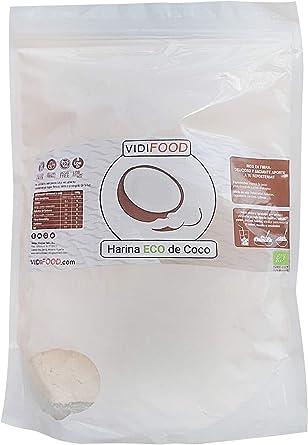 Harina de Coco Ecológica - 1kg - Harina Orgánica con Alto contenido de Fibra - Totalmente Natural y sin Gluten: Amazon.es: Alimentación y bebidas