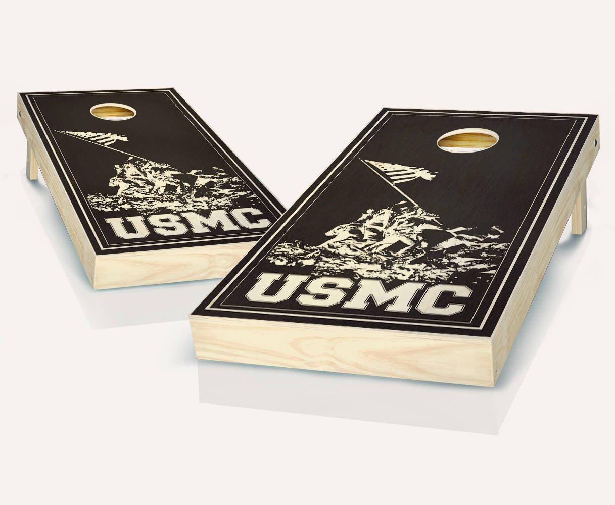 USMC海兵隊MilitaryエボニーStainedカスタムCornholeボードregulation sizeゲームセットBaggo Bags ACA 8 Bean Bag Toss + 8 ACA Regulation Bags B07BWWWRD3, 常呂郡:538ee4a0 --- webshop.mrf.se