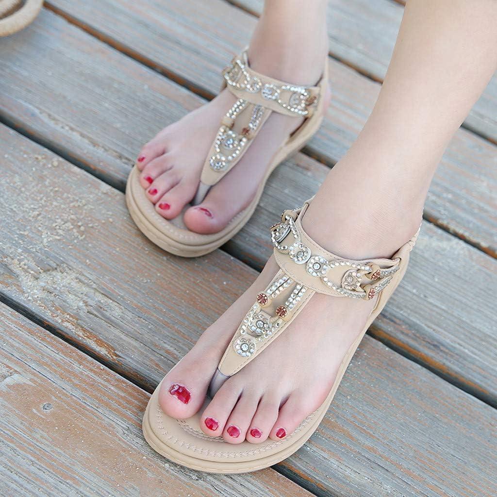 Sandals Fashion New Womens Shoes Bohemian Casual Rhinestone Sandals Womens Sandals Pandaie Womens ..