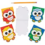 Fun Express Owl Shaped Notepads - 24 Pieces - Educational and Learning Activities for Kids