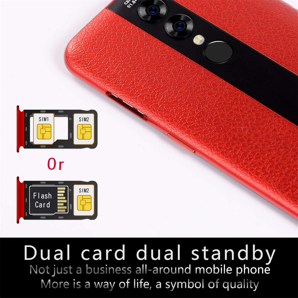 Hot Sale, NDGDA 5.0'' Quad Core 6.2 inch Dual HDCamera Smartphone Android 7.0 32GB Touch Screen WiFi Bluetooth GPS 3G Call Mobile Phone (Red) by NDGDA Smart Phone (Image #4)